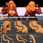 一张头发模型制作的小教程