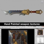 手绘武器贴图教程 - Hand Painted weapon textures - 3DMotive