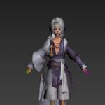 剑网三白发成男和白发正太模型,带骨骼绑定