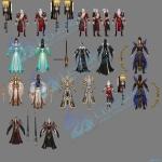 精美3D网游《天下3》角色模型资源