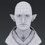 游戏角色人物老人头像绘制
