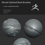ZBrush笔刷   石头  机械  龙皮肤雕刻笔刷【顺带还有一本300P的书】