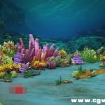 海底场景模型
