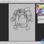 欧式盔甲游戏原画设计绘画数字教学