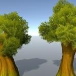 unity3d低模手绘风格的森林场景模型资源包 unity3D手游森林场景模型