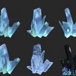 再来一组冰 水晶 玉石模型 从此之后妈妈再也不用担心我的冰块儿了