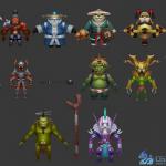 Q版3D实时对战手游!65个角色怪物!