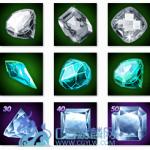 个人收集的宝石 水晶 钻石 药剂 金币等UI图标素材 422P
