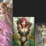 精品!精灵 妖精 妖媚类型角色设定超级合集 两千多张 CG原画造型设计参考必备