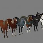 国内古装大型游戏战马模型