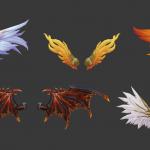 5款不错的手绘翅膀模型