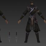 黑衣人刺客模型