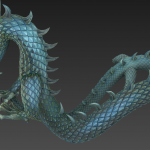 青铜龙模型 青铜神龙模型 龙雕塑模型 中国龙高模雕塑模型