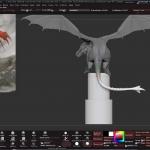 Zbrush巨龙精细雕刻实例制作视频教程