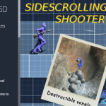 unity3d横向卷轴2.5D射击游戏项目包Sidescrolling 25D Shooter 1.1