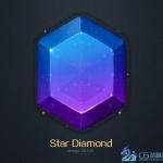 UI长条图文教程-蓝宝石绘制教程