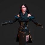 次世代-巫师3女主角yennefer模型