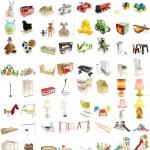 一套儿童乐园3D模型专辑(玩具,家具,游戏机,台灯,滑滑梯)