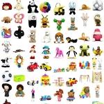 一套儿童玩具3D模型专辑(毛绒玩具,人偶,火车托马斯)