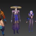 国风精品手游游戏角色怪物武器模型
