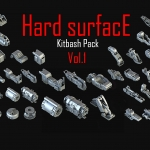 Hard Surface Kitbash Pack 01  1.04G