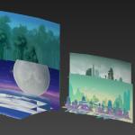 【山海异闻录】3D国韵奇遇式手游角色部分场景模型
