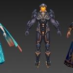 高品质武侠仙侠成套主角角色时装模型资源