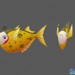 卡通Q版捕鱼资源 捕鱼高手 捕鱼达人 鱼类模型资源 22条鱼
