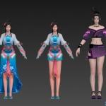 流星最近的武侠次时代大作手游女性角色集合《流星》_01