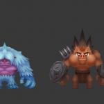 500首发 二次元恶灵退散—角色—怪物 模型