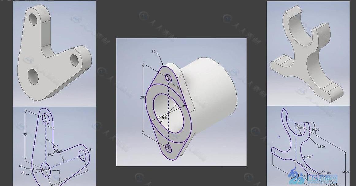 Inventor建模与草图参数制作技术视频教程_3D