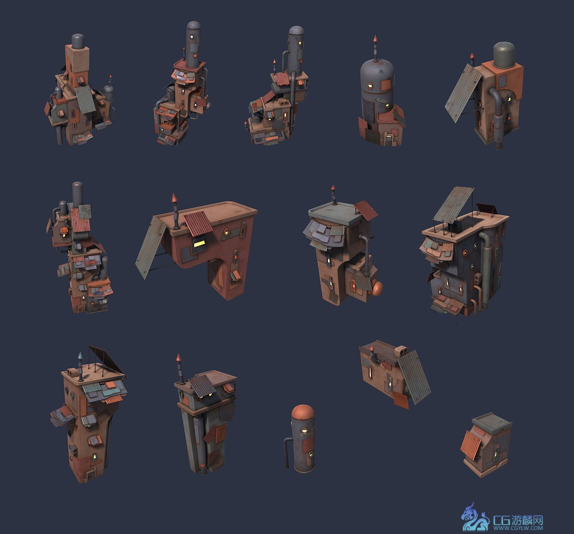 CubeBrush - Scrap city assets [FBX/UNITY]