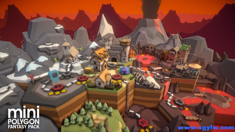 POLYGON MINI - Fantasy Pack 1.0 unity3d asset