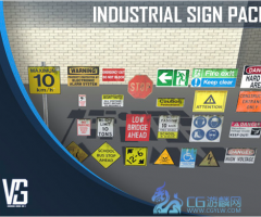 25 Mixed Industrial Sign Pack-25种混合工业标志包