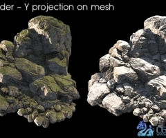 unity3d岩石山石石头模型Rock and Boulders 3 1.0