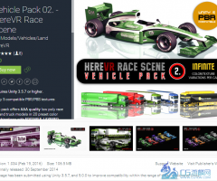 u3d赛车车辆模型Vehicle Pack 02. - HereVR Race Scene 1.03 unity3d