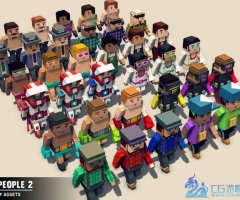 unity3d-Simple People 2 - Cartoon Assets 3D Models Characters Humanoids Human