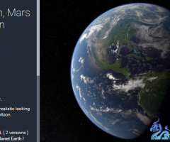 unity3d行星地球Planets Earth Mars and the Moon 0.4.4