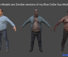 Zombies Pack V2 1.1 unity3d asset