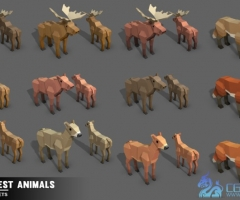 unity3d-Simple Forest Animals - Cartoon Assets-简单的卡通森林动物角色3D模型